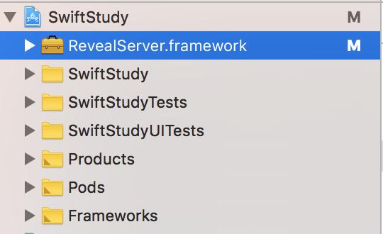 复制RevealServer.framework到项目根路径